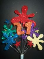Paintball splat 21st birthday cake topper decoration - free postage